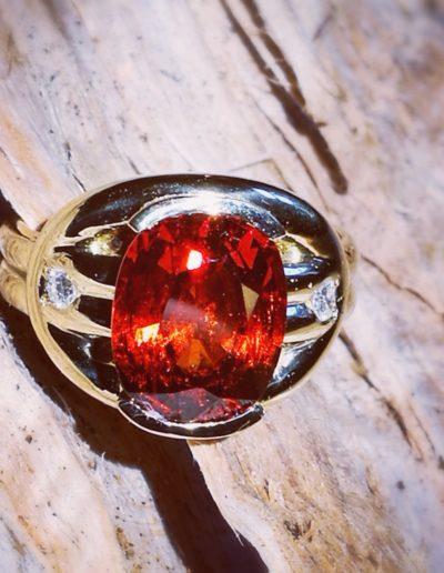 bague-or-jaune-grenat-spessartite-diamant
