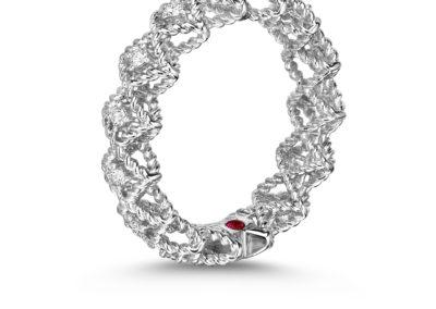 bague-roberto coin-or blanc-diamant-roman barocco