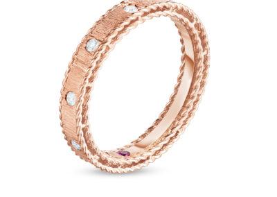 bague-roberto coin-or rose-diamant-princess