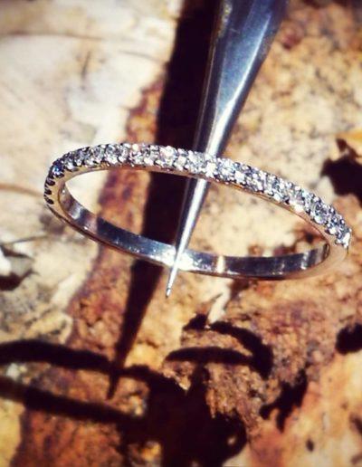 alliance-or blanc-diamants taille brillant
